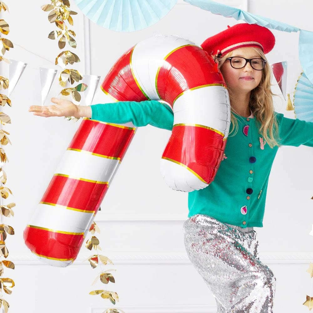 Supershape Candy Cane Foil Balloon