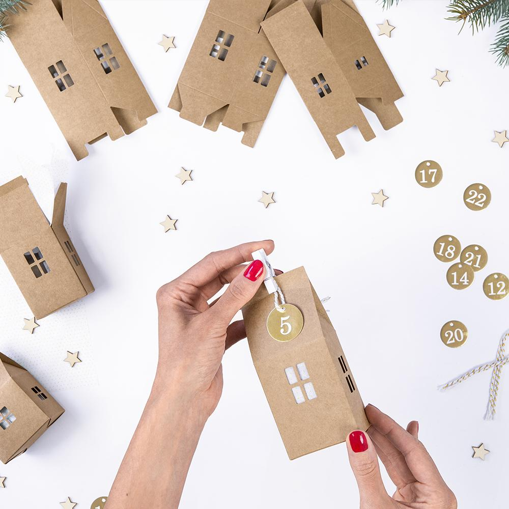 DIY Advent Calendar Houses