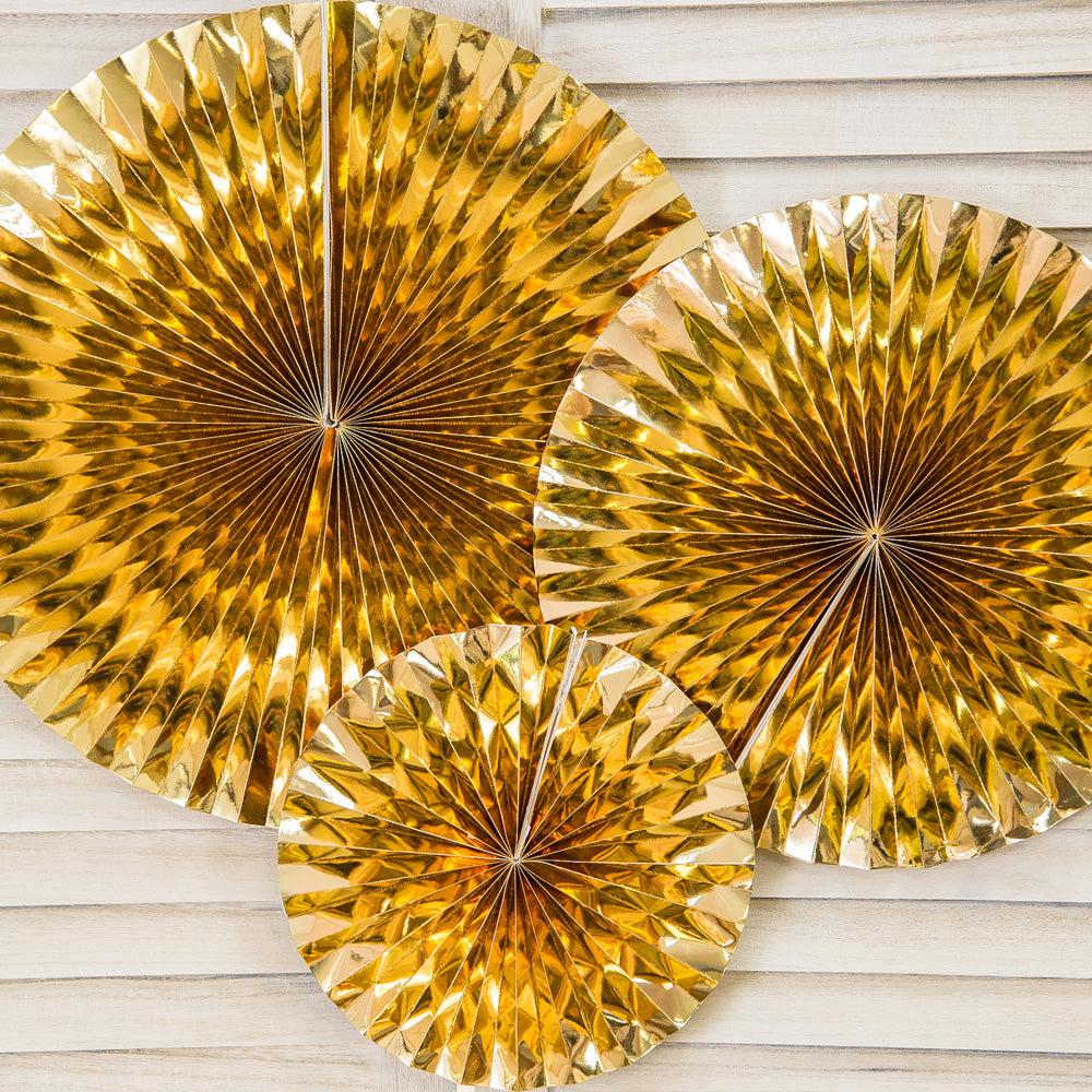 Decorative Rosettes Gold (x3)
