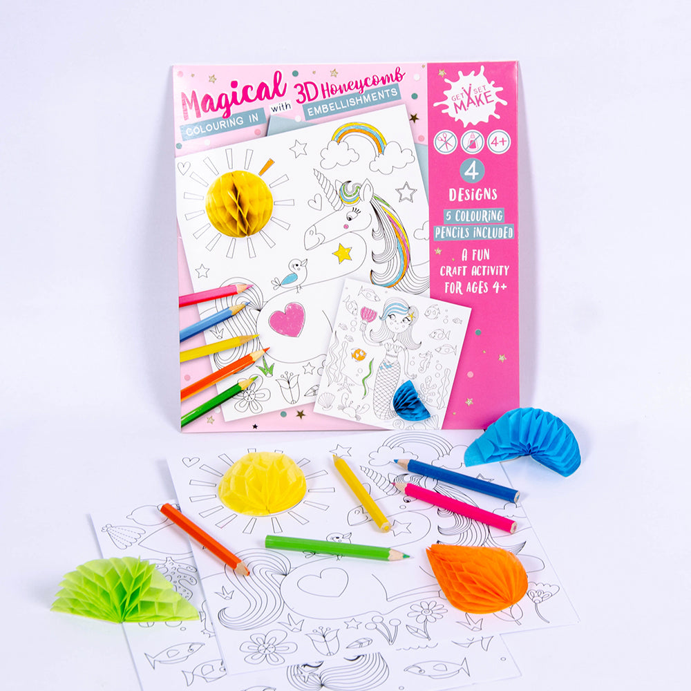 Girls 3D Colouring Set