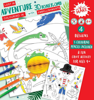 Boys 3D Colouring Set