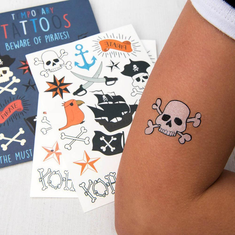 Beware of the Pirates Temporary Tattoos