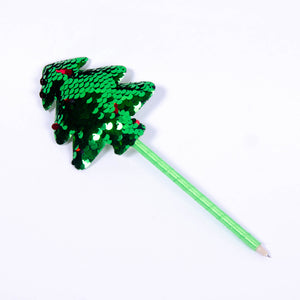Two-Tone Sequin Christmas Tree Pen