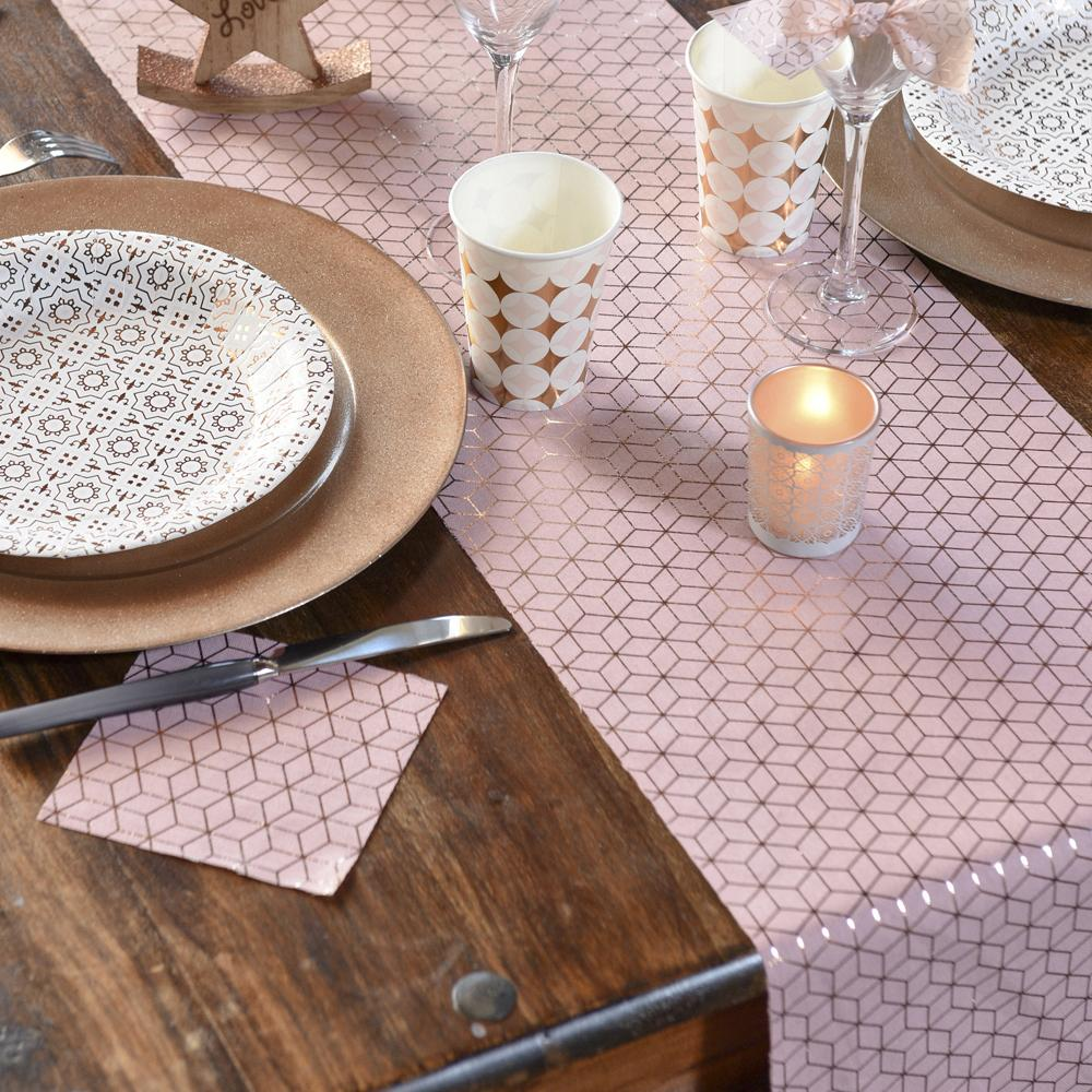 Geometric Copper Table Runner (3m)