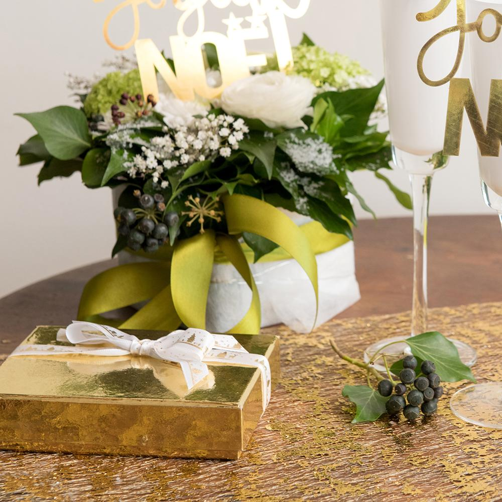 Shiny Table Runner Gold