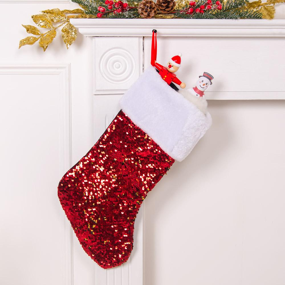 Red Sequin Stocking