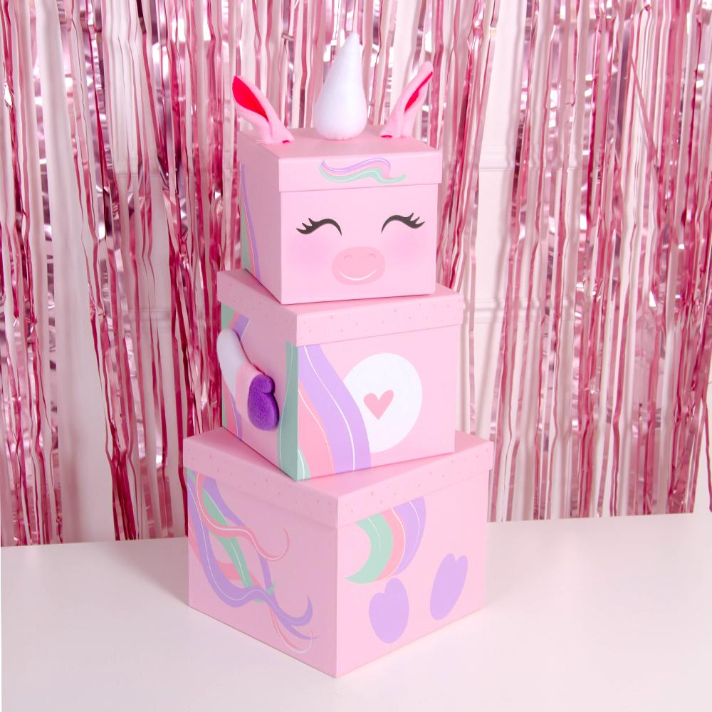 Stackable Unicorn Gift Boxes (x3)