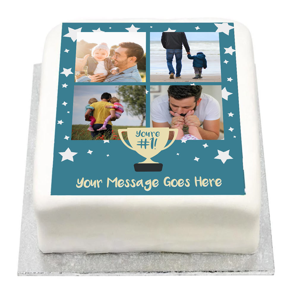 Personalised Multi Photo Cake - You're Number 1!