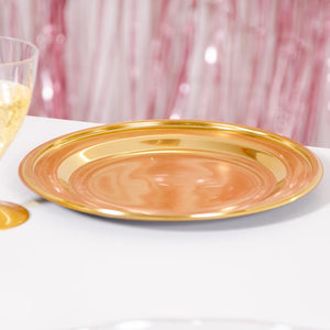 Gold Round Small Plates (x6)