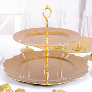2 Tier Cupcake Stand Gold
