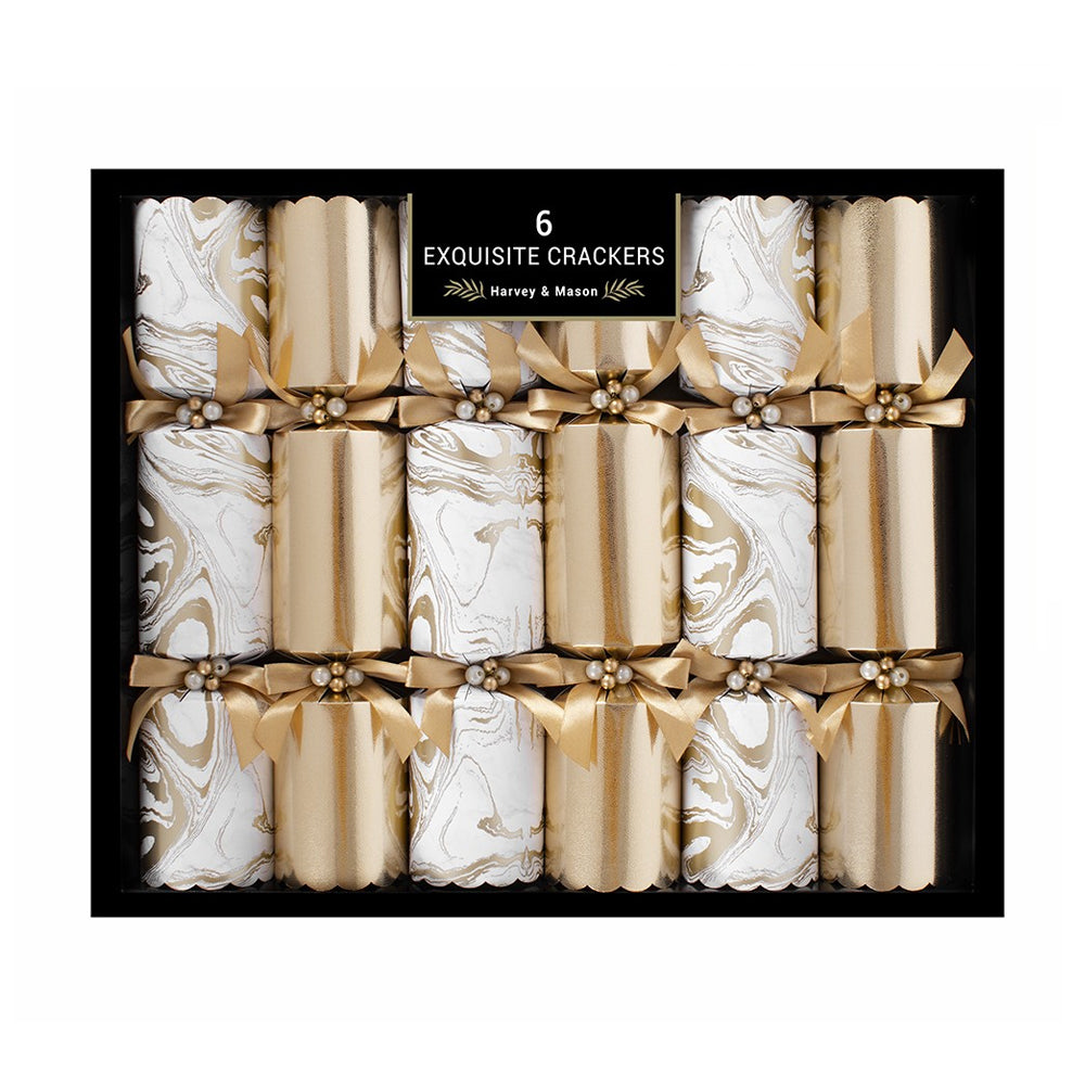 Marble Crackers Gold (x6)