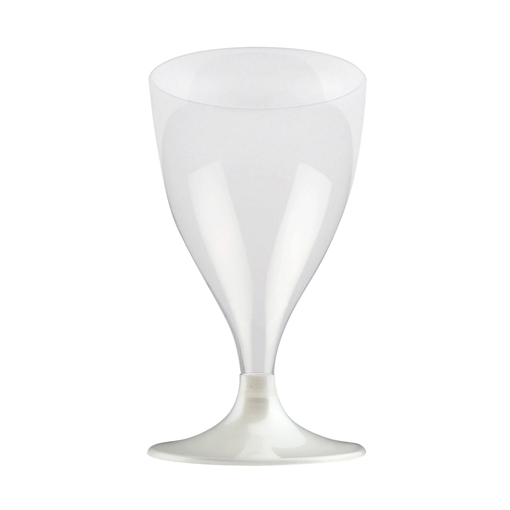 Reusable Plastic Wine Glass Pearl (x10)