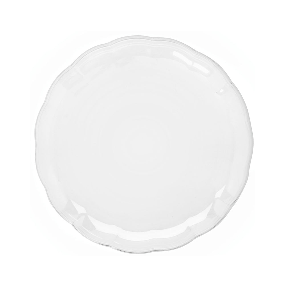 Scalloped Edge Clear Serving Tray