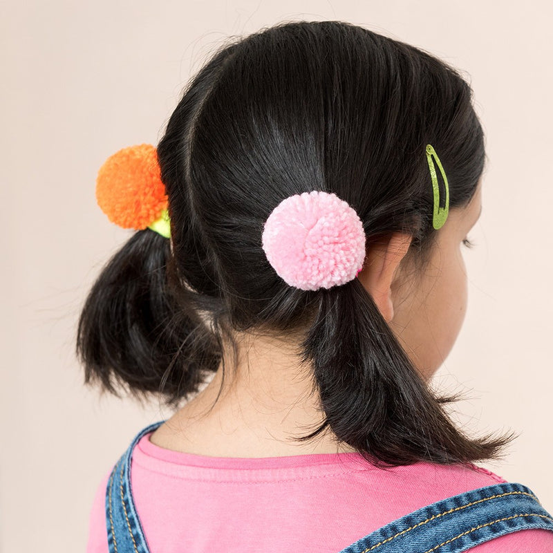 Pom Pom Hairbands (x5)
