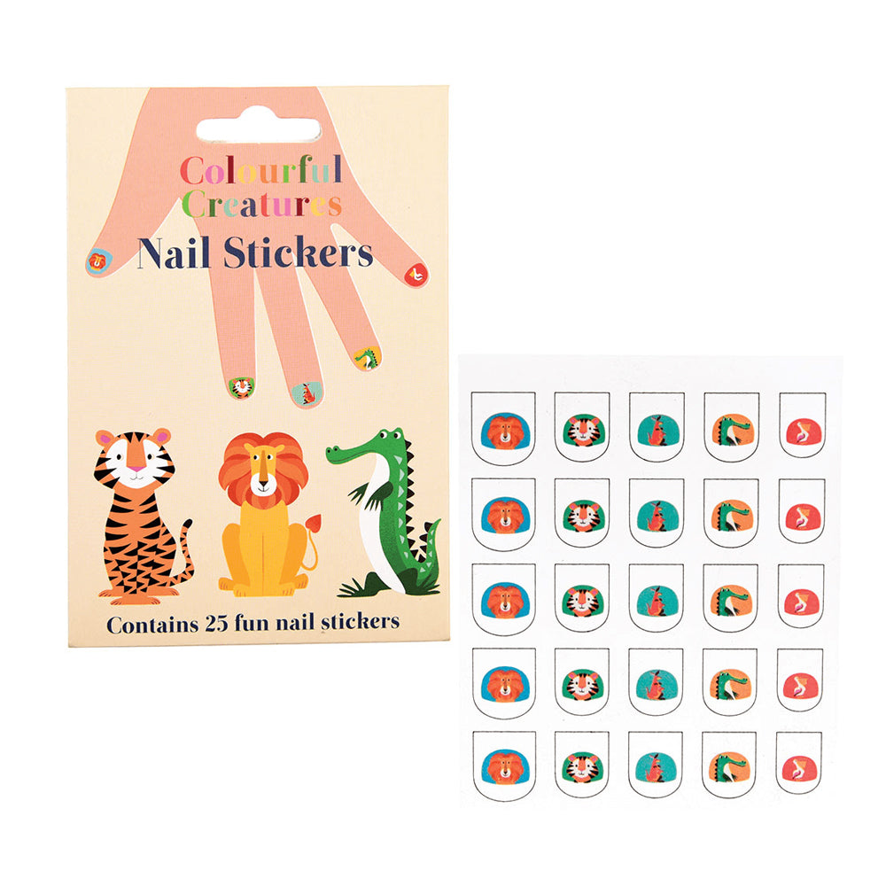 Colourful Creatures Nail Stickers