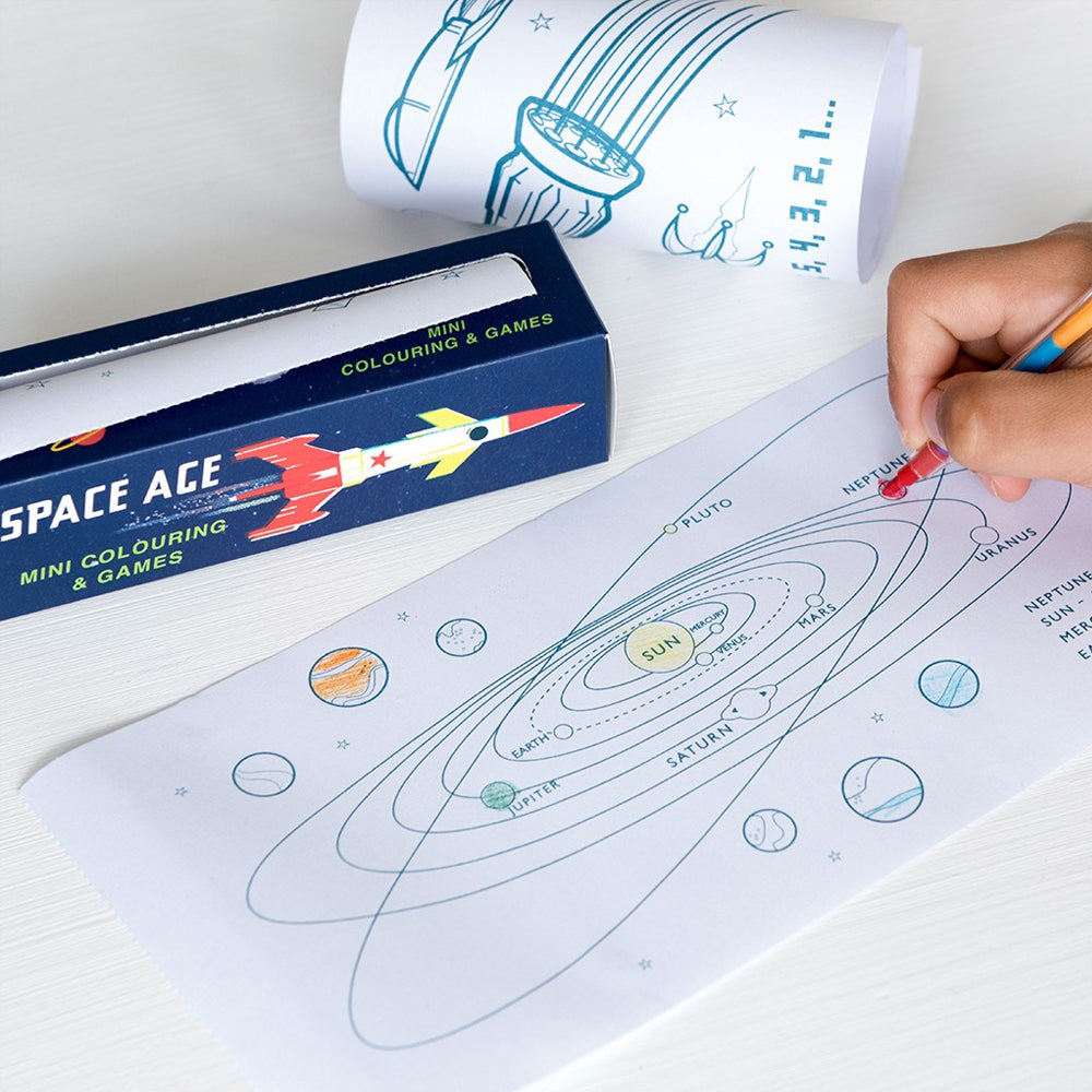 Space Age Mini Colouring & Games
