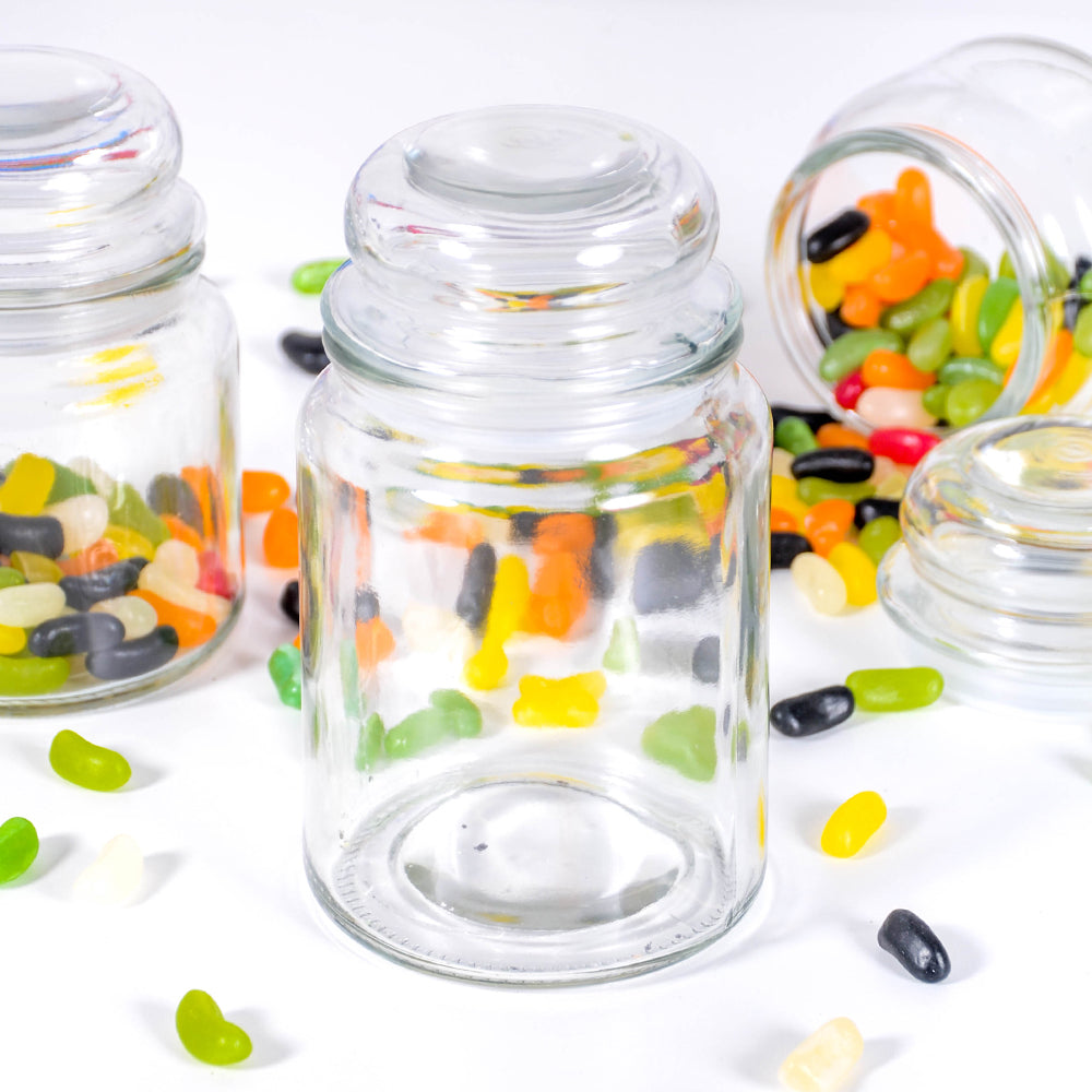 Retro Glass Sweetie Jar Large