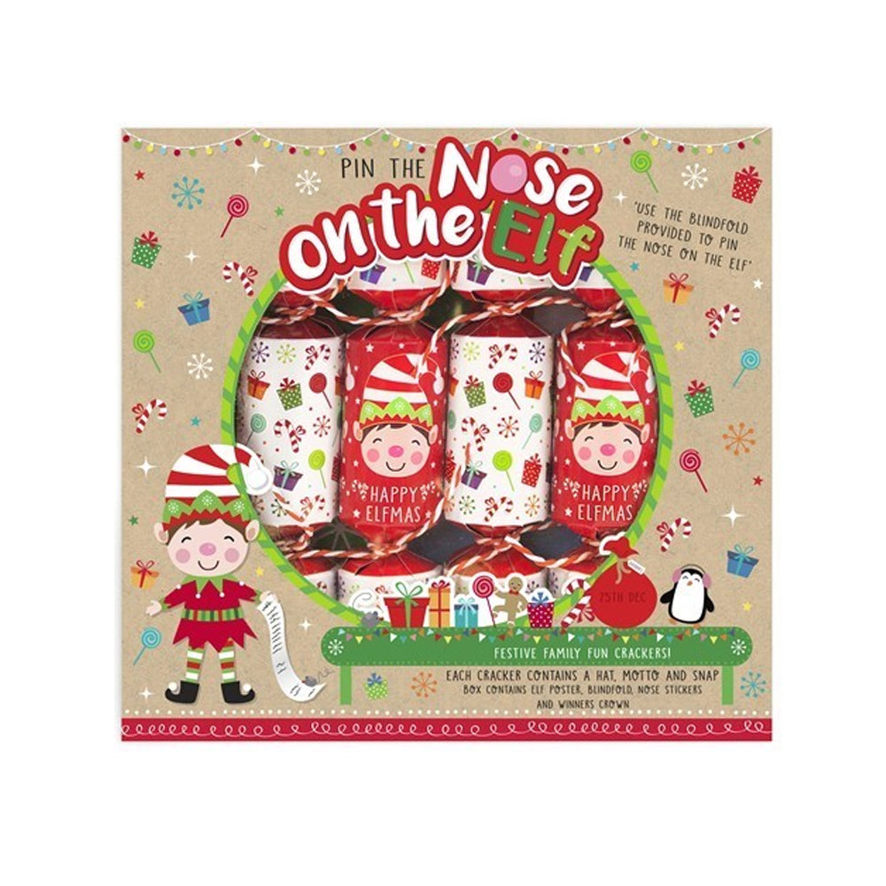 Click to view product details and reviews for Pin The Nose On The Elf Game Crackers X6.