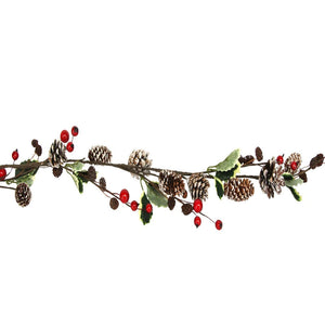 Berry, Leaf & Snowy Garland