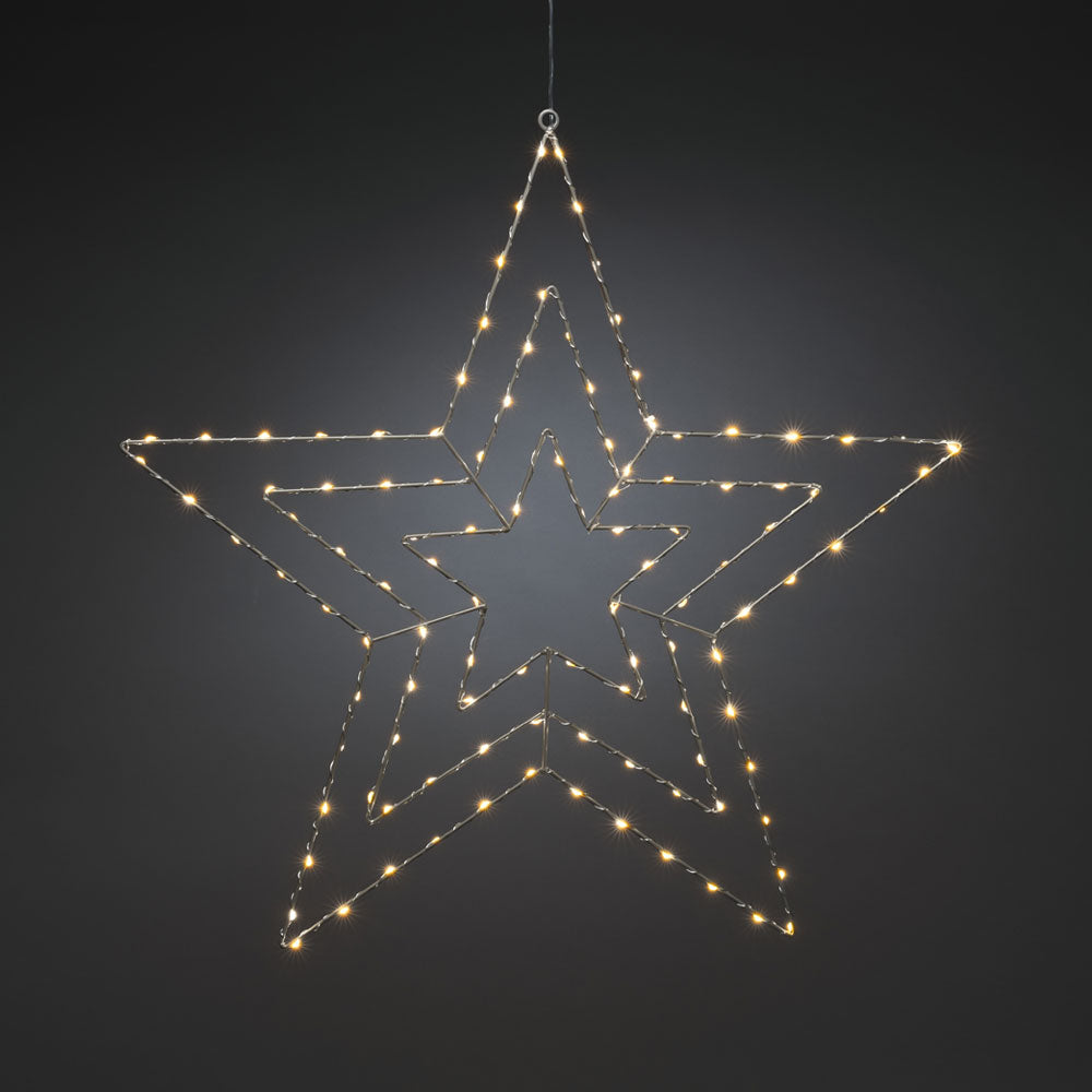 Hanging Silver Wire Star