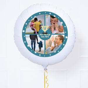 Personalised Photo Balloon - You're Number 1: Blue