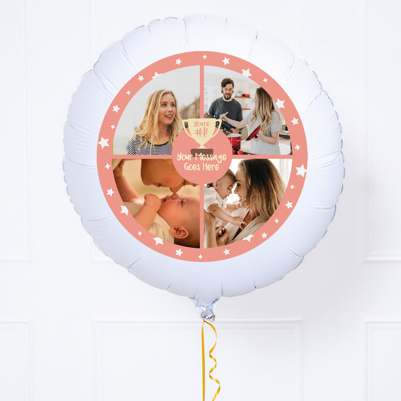 Personalised Photo Balloon - You're Number 1: Pink