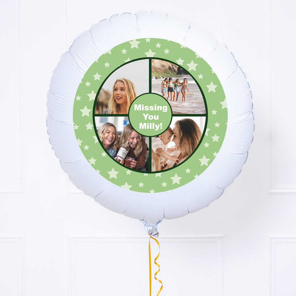 Personalised Photo Balloon – Green Star