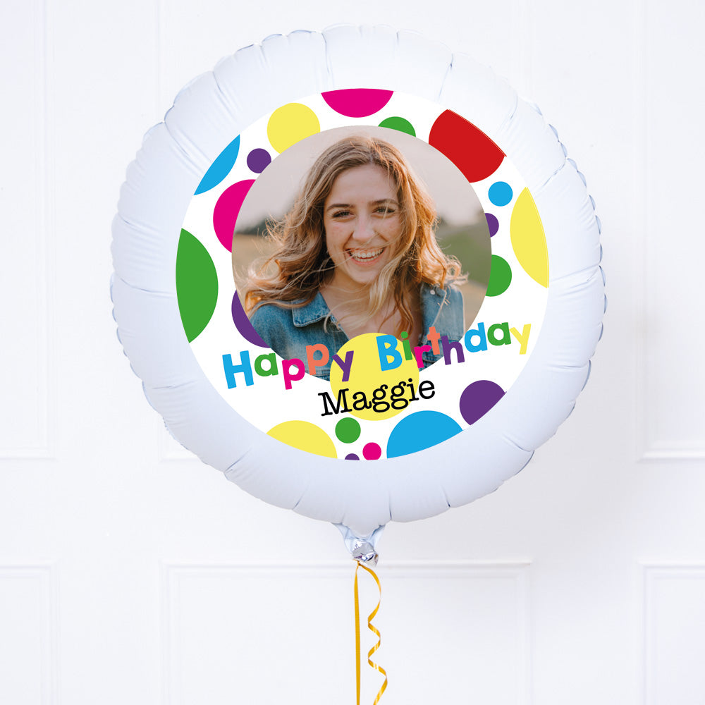 Personalised Photo Balloon - Bright Dots