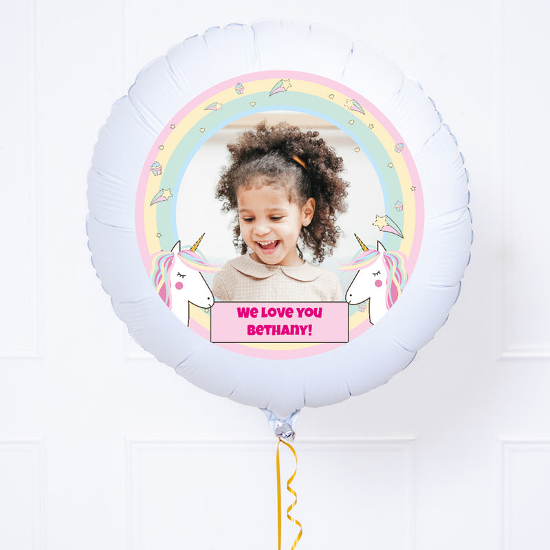 Personalised Photo Balloon – Magical Unicorn