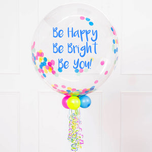 Personalised Bubble Balloon in a Box – Neon