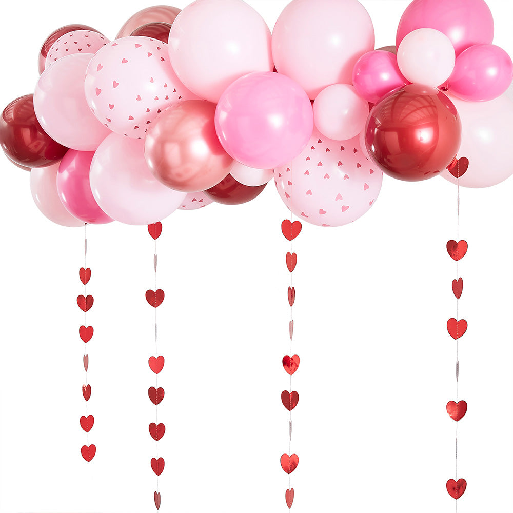 Balloon Arch Kit - Red, Rose Gold and Pink