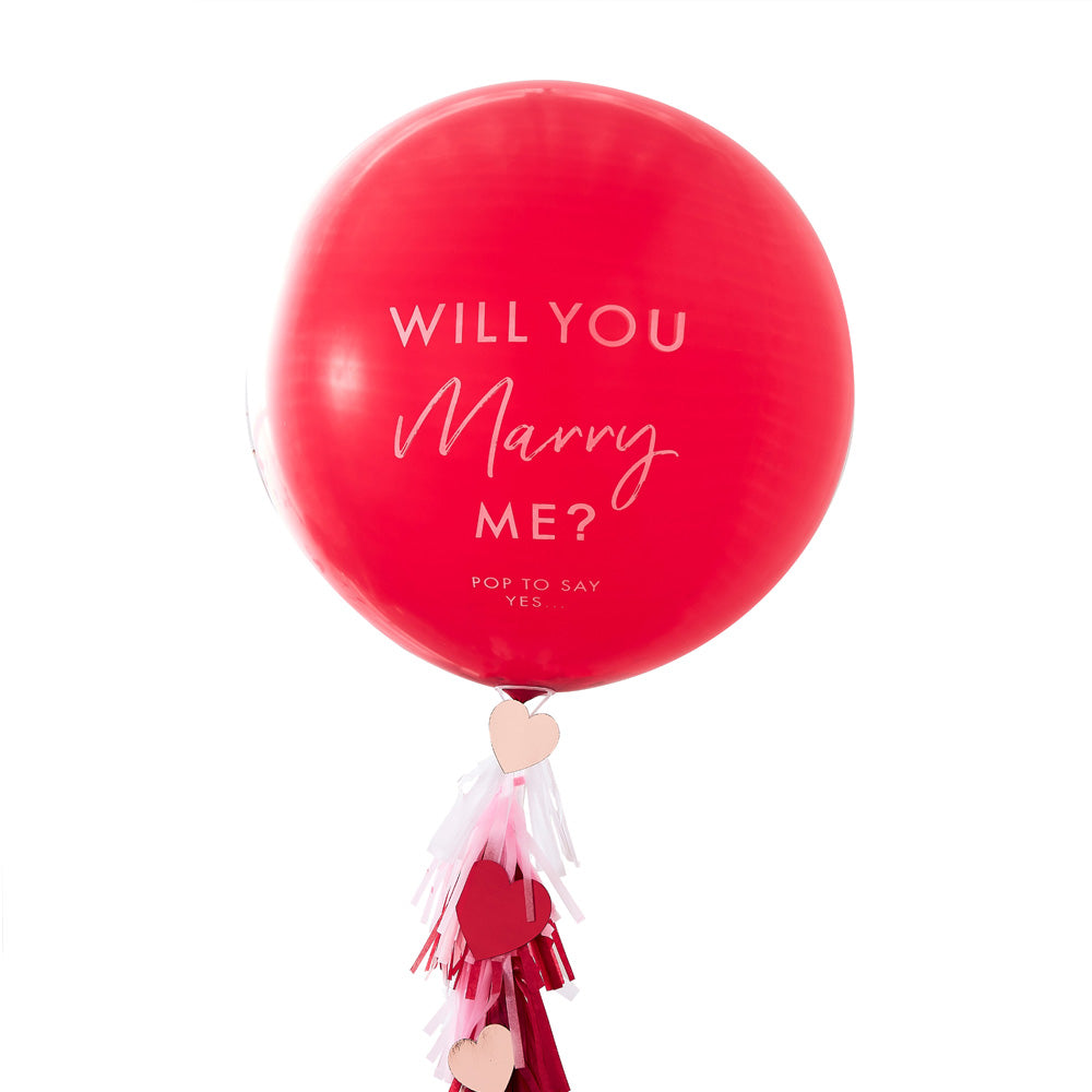 'Will You Marry Me' Latex Balloon Kit