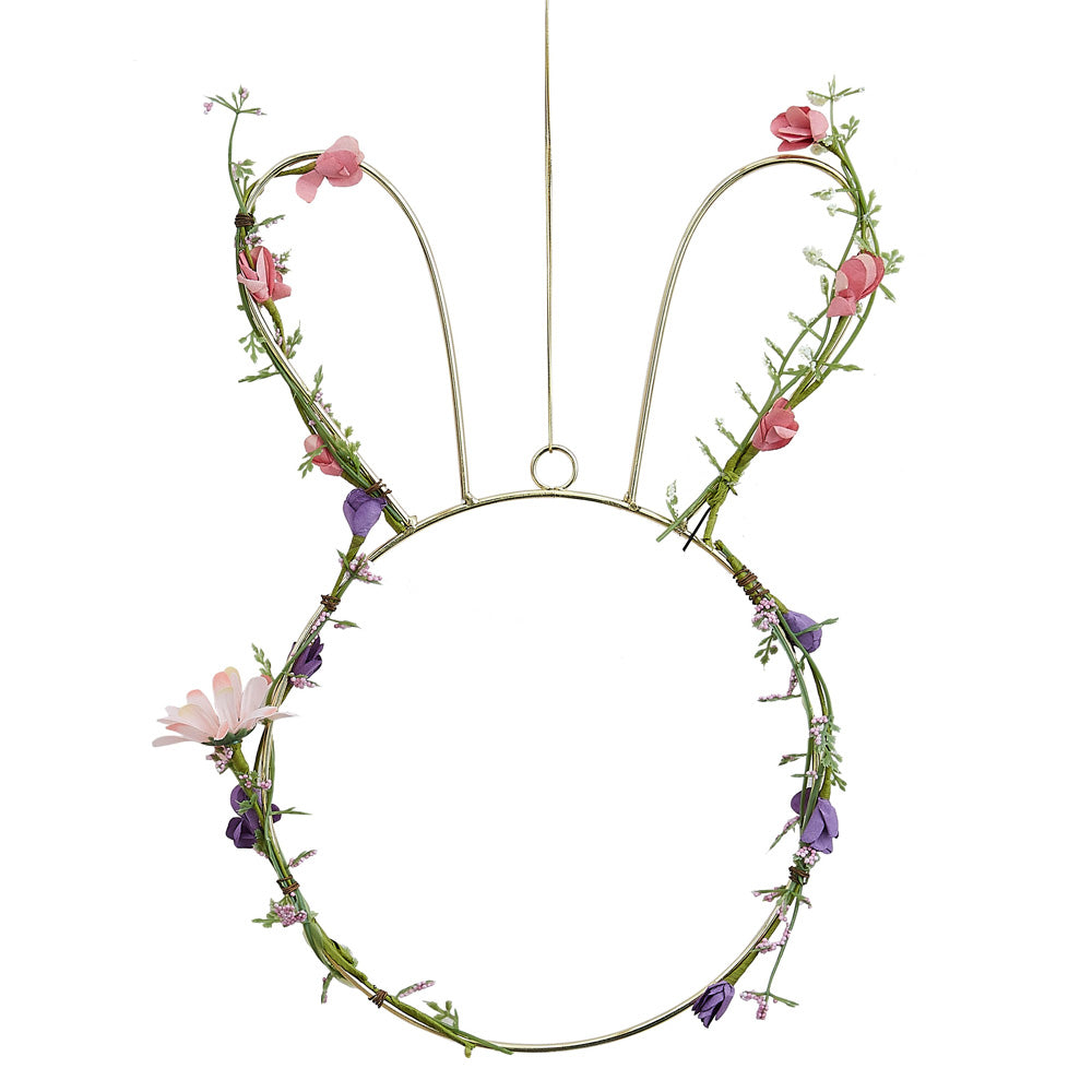 Spring Foliage Wire Bunny Decoration
