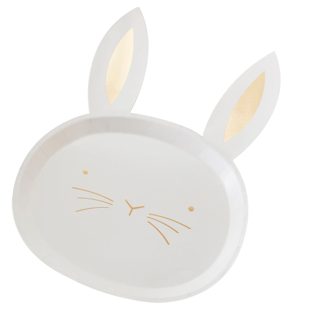 Hop This Way Bunny Easter Plates (x8)