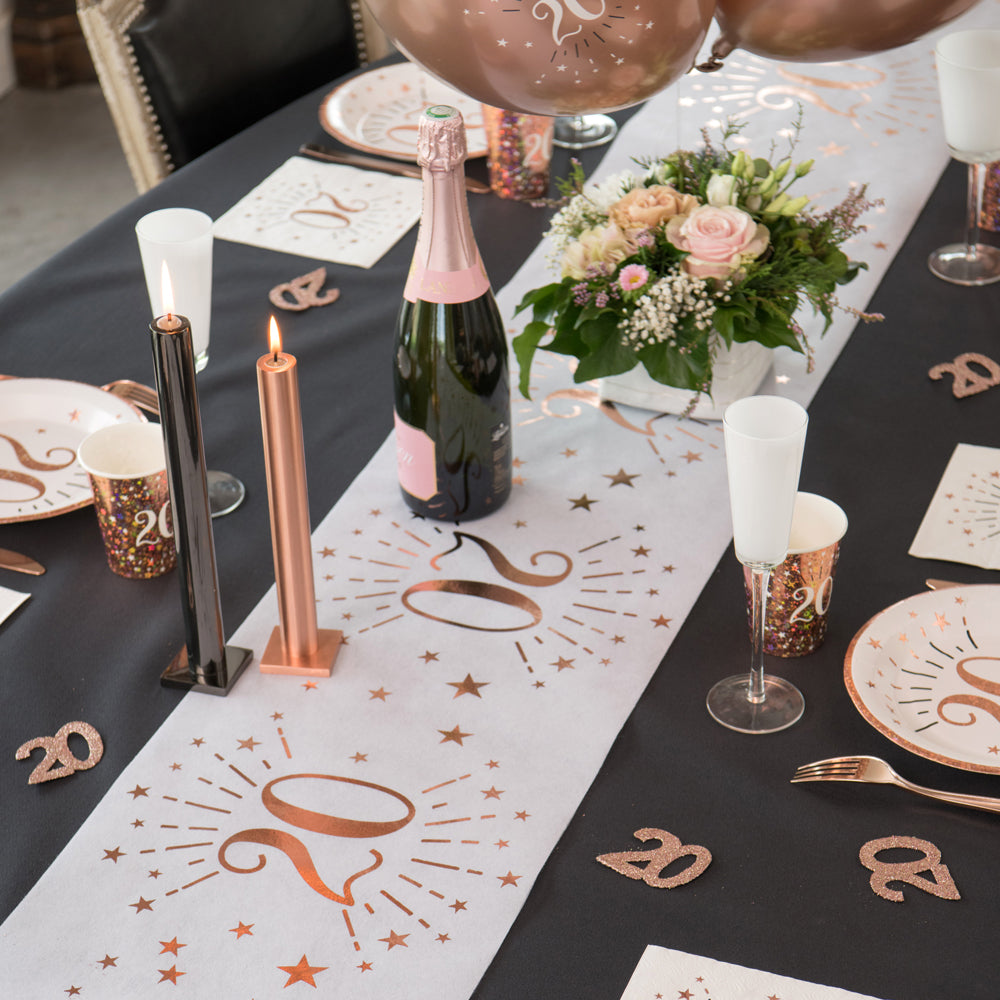 30th Birthday Rose Gold Party Table Runner (5m)