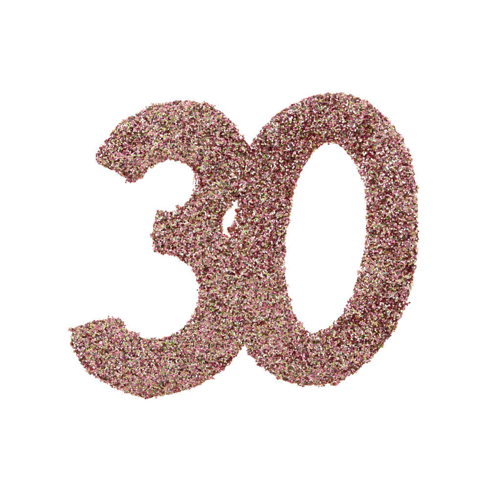 30th Birthday Rose Gold Table Confetti
