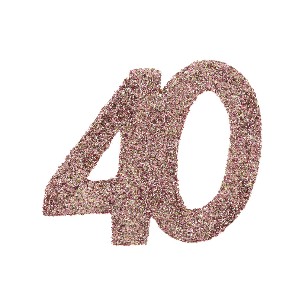 40th Birthday Rose Gold Table Confetti