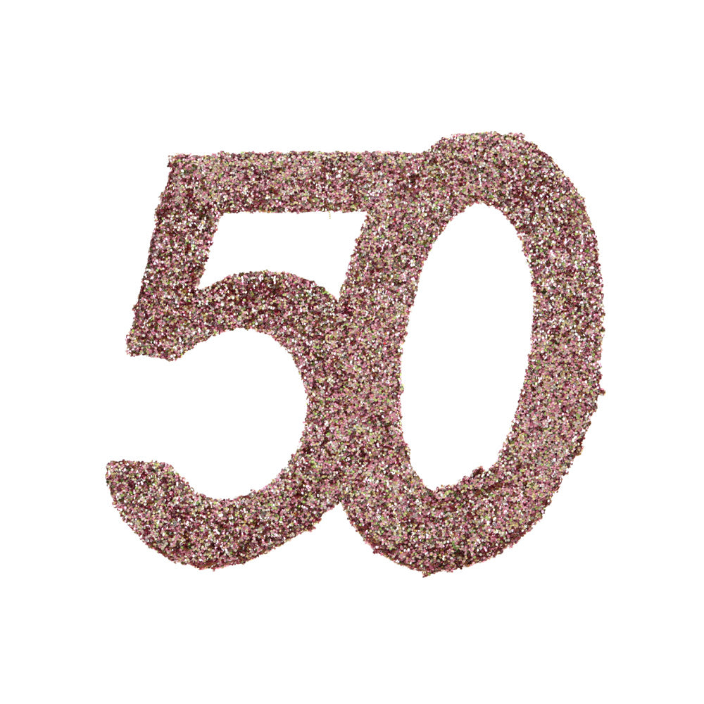 50th Birthday Rose Gold Table Confetti