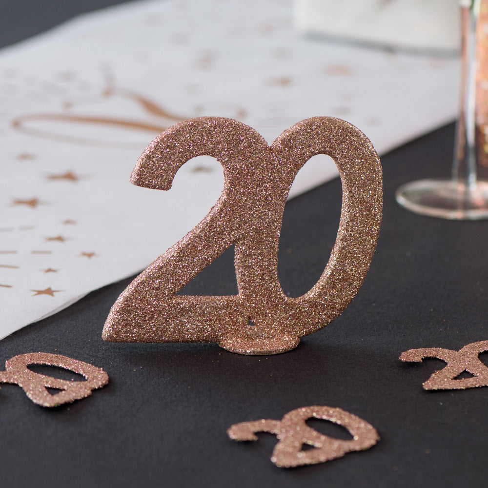 60th Birthday Rose Gold Table Decoration