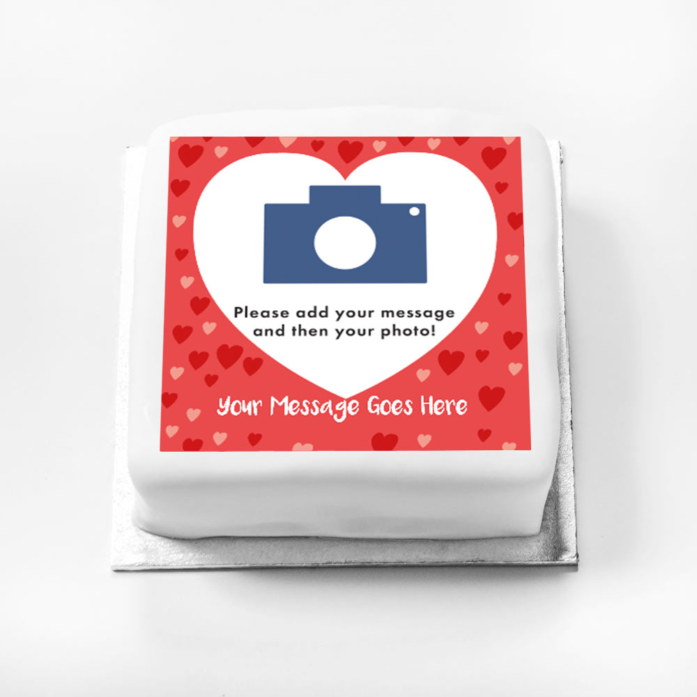 Personalised Message Gift Cake - Love Hearts