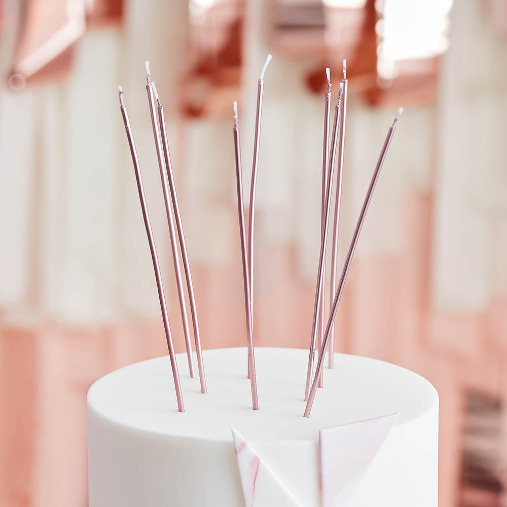 Tall Candles - Rose Gold (x12)