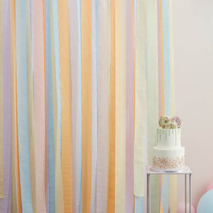 Large Foiled Streamer Backdrop - Pastel