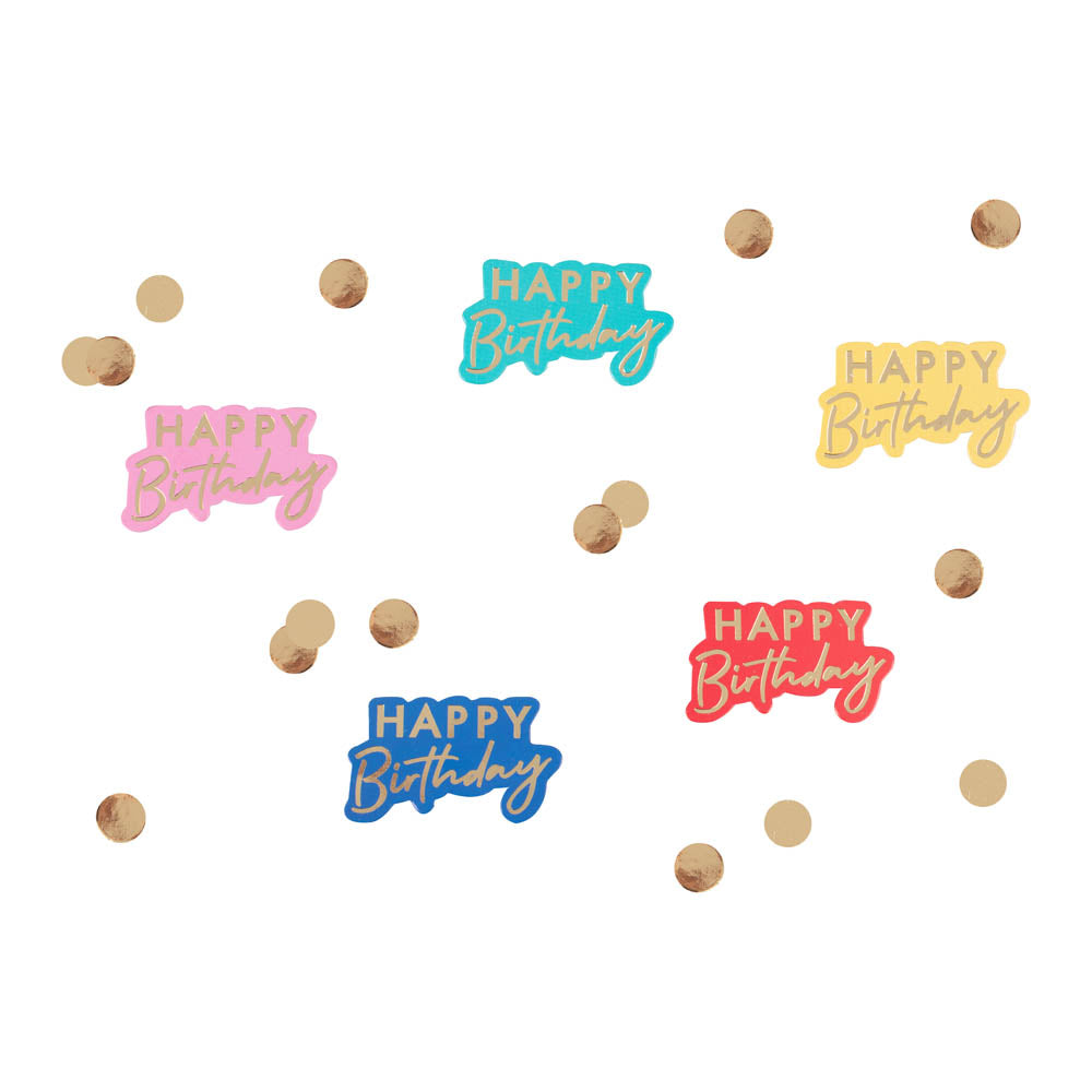 Happy Birthday Gold Foiled Table Confetti