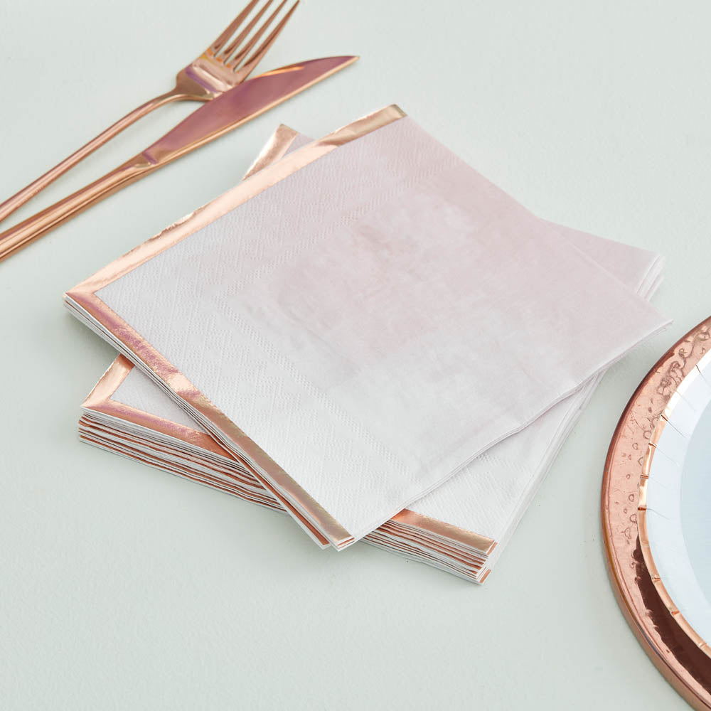 Reactive Glaze Effect Foiled Napkins (x16)