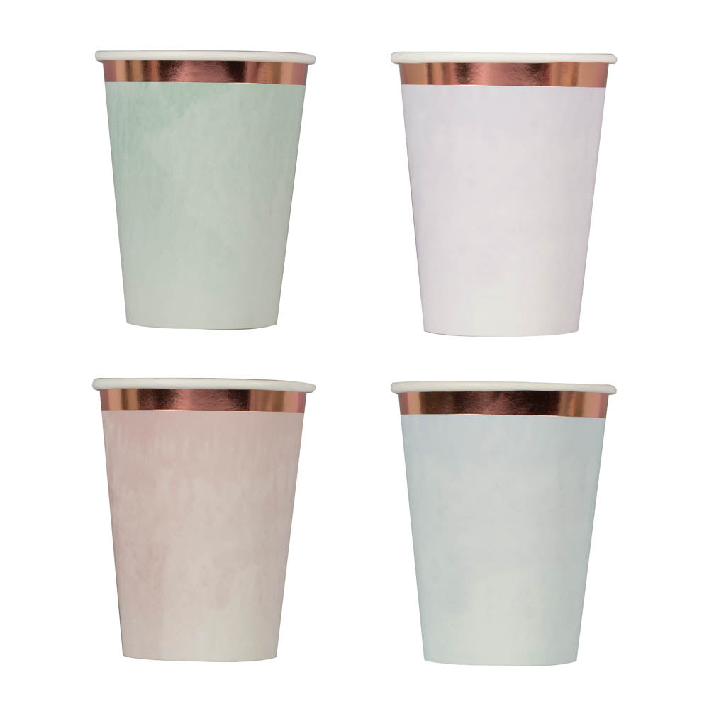 Reactive Glaze Effect Foiled Cups (x8)