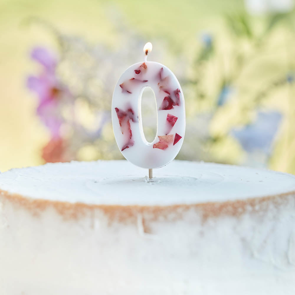 Pressed Petals Number 0 Candle