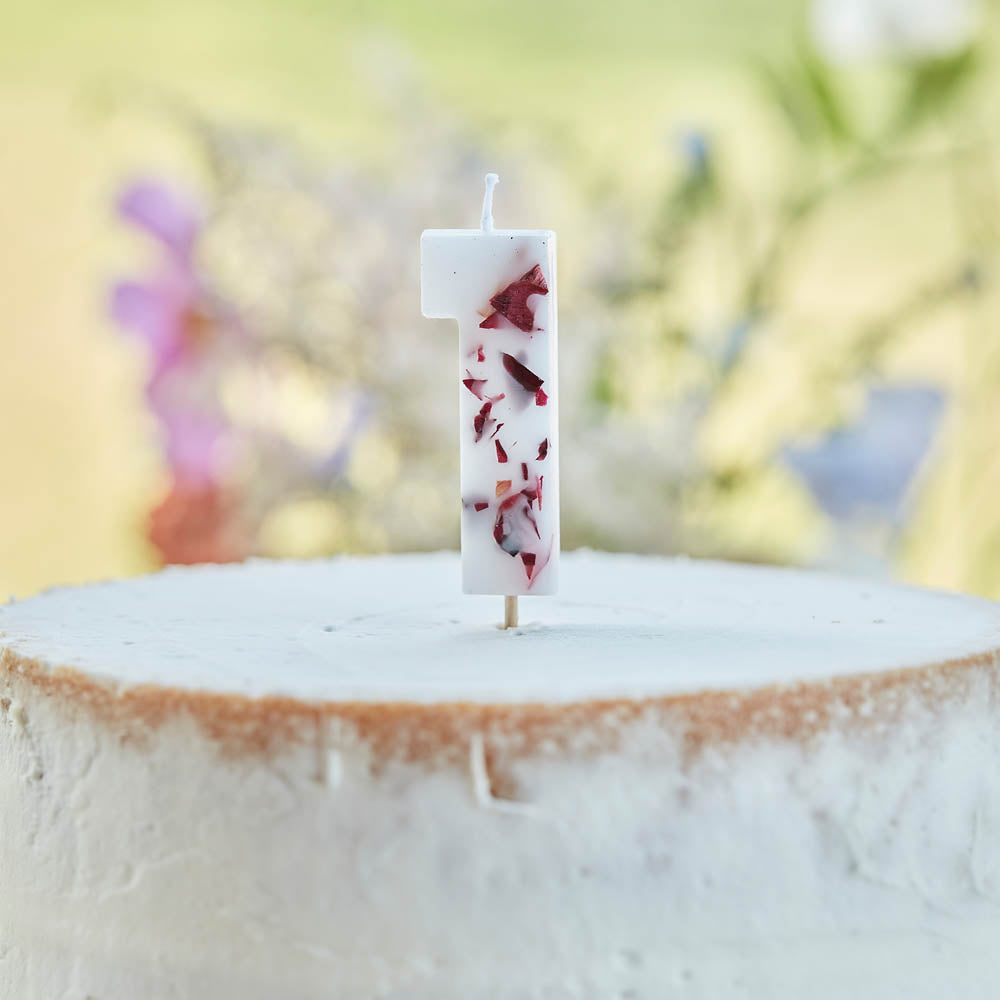 Pressed Petals Number 1 Candle