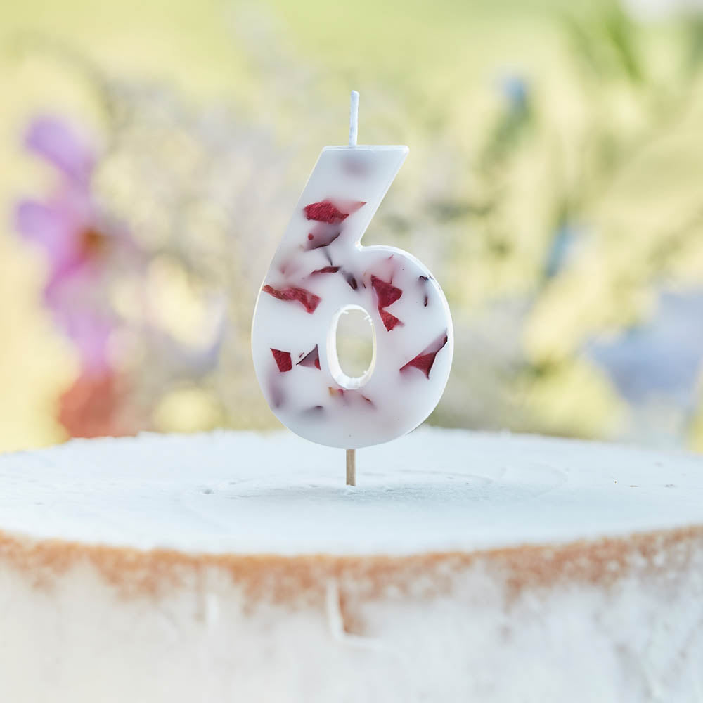 Pressed Petals Number 6 Candle