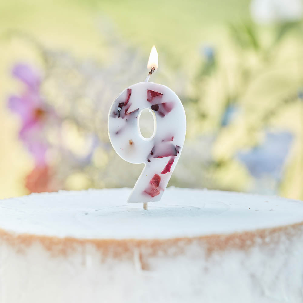 Pressed Petals Number 9 Candle