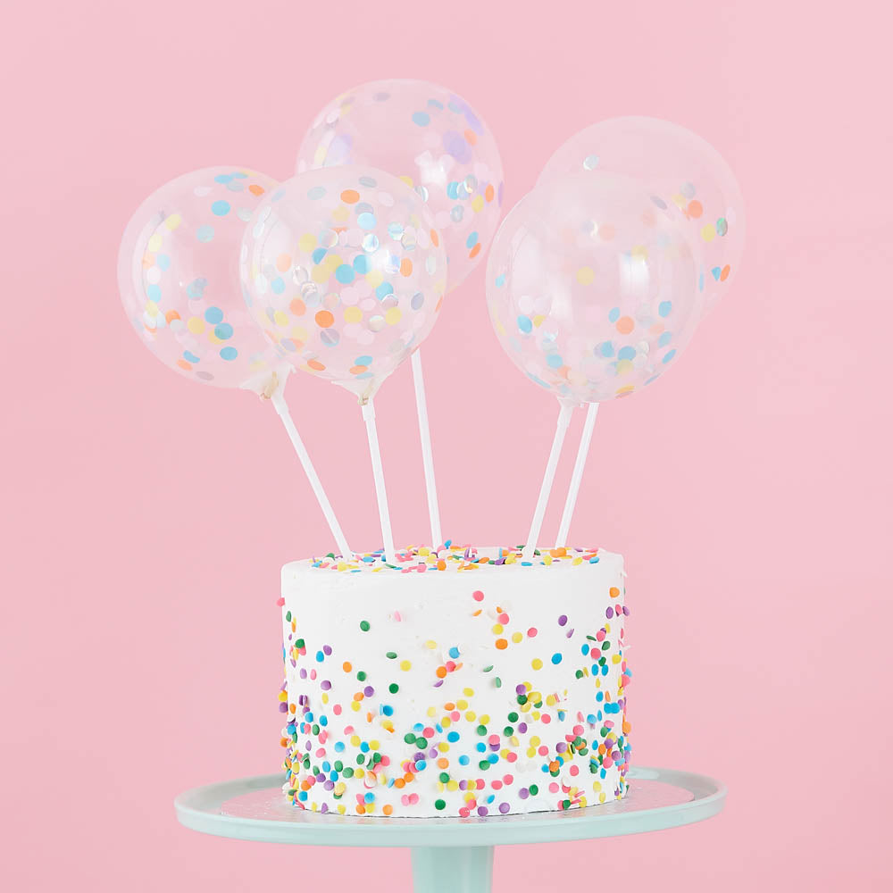 Mini Balloon Cake Toppers (x5)